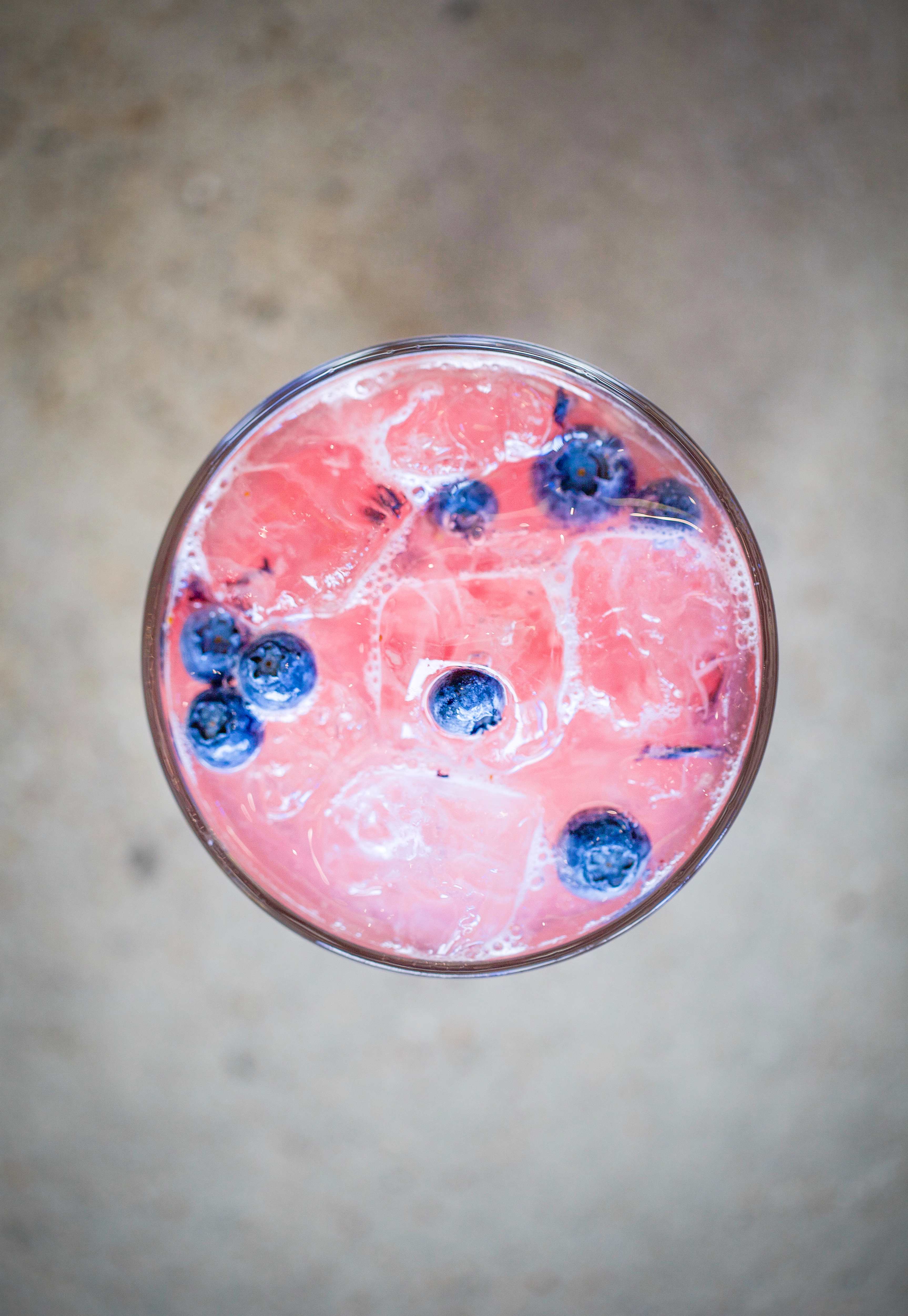 Blueberry Drink top view