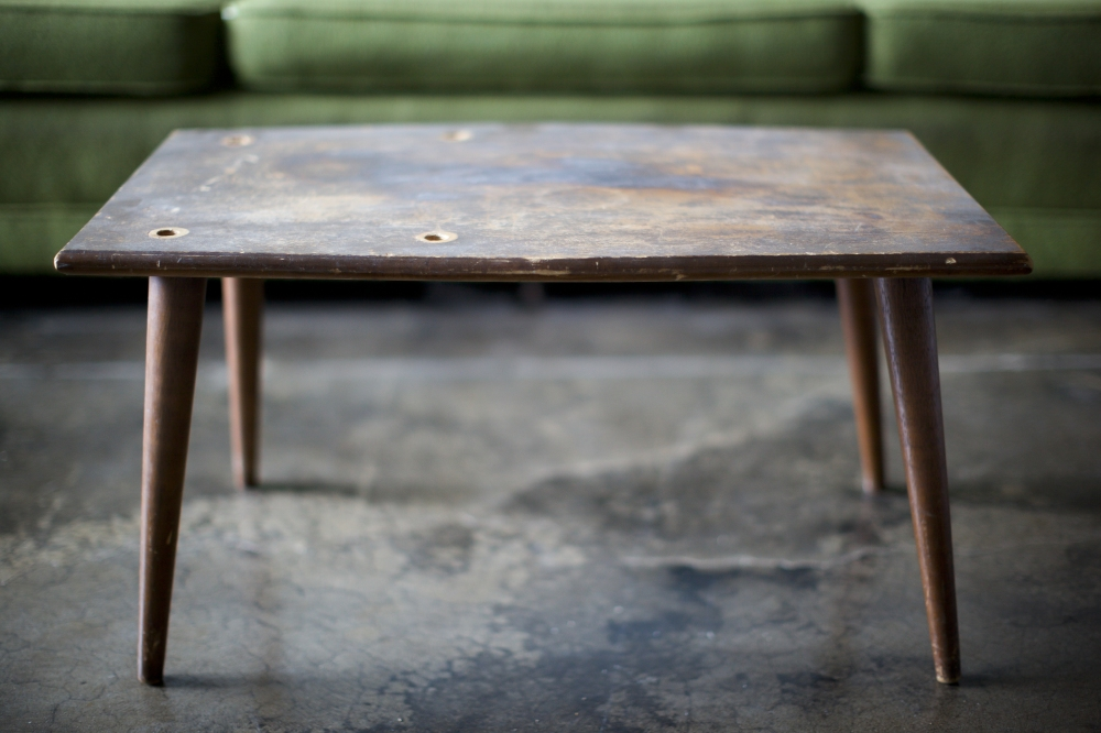 Table with Green Couch
